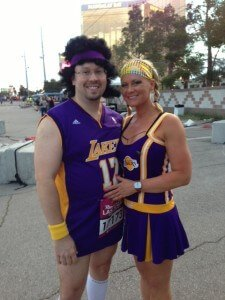 Having fun in Vegas 2012...this is part of the weight loss he loves...the fitness together time!