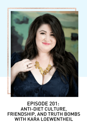 Portrait of Kara, an Anti-Diet Coach on the Loosing 100 Pounds Podcast